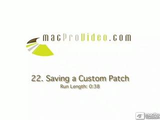 22. Saving A Custom Patch