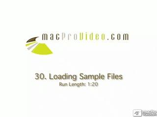 30. Loading Sample Files