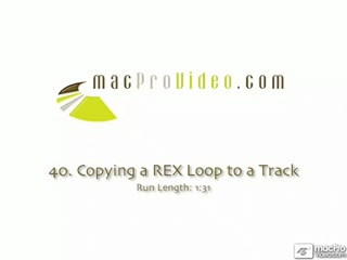 40. Copying a REX Loops to a Track