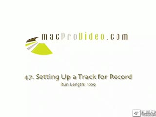 47. Setting Up a Track for Record