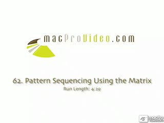 62. Pattern Sequencing Using The Matrix