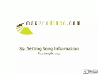 89. Setting Song Information