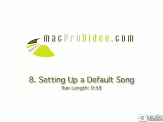 08. Setting Up A Default Song