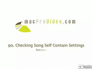 90. Checking Song Self Contain Settings