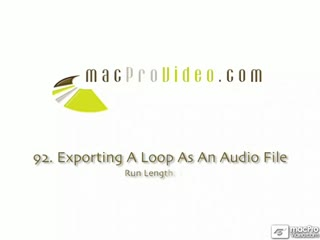 92. Exporting A Loop As An Audio File
