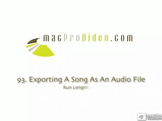 93. Exporting A Song As An Audio File