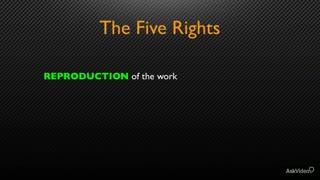 7. The Five Rights - Part 1