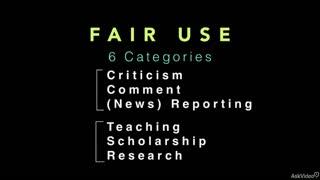15. Fair Use: The Four Parameters
