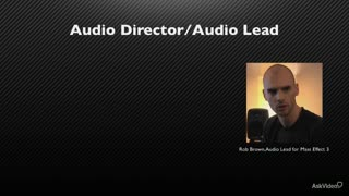13. Audio Production Roles