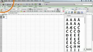 18. Inserting Symbols and Special Characters From Mac OSX