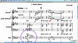 Sibelius 7 103: Jazz Quintet Project - Preview Video
