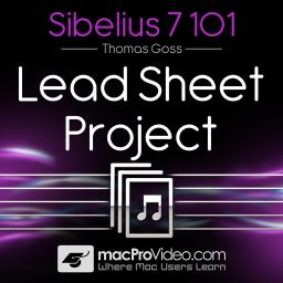 Sibelius 7 101 Lead Sheet Project Product Image