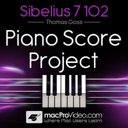 Sibelius 7 102 Piano Score Project Product Image