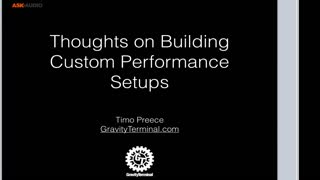 Building Live Performance Setup: Strategies for Building a Live Performance Setup - Preview Video