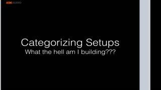 4. Categorizing Setups - Part 1