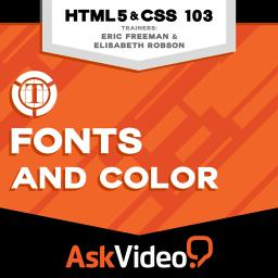 HTML & CSS 103 Fonts and Color  Product Image