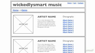 3. An Example Music Site
